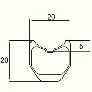 20mm Width Tubular 20mm Rim Profile