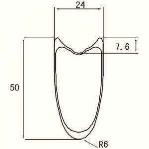 24mm Width Tubular 50mm Rim Profile