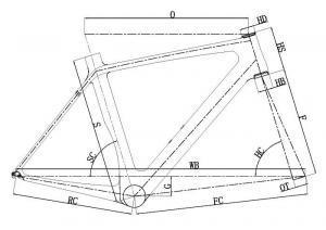 carbon road frame B129 Geometry unique aero design