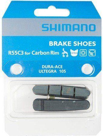 Brzdové gumičky Shimano R55C3 carbon ke kolům Spinollo